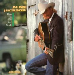 Alan Jackson poster: Here in the Real World vintage LP/album flat