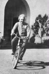 Albert Einstein poster: Einstein Riding Bike (24x36) New
