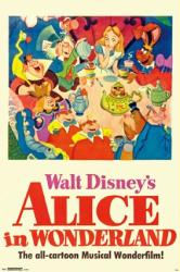 Alice In Wonderland movie poster (24x36) 1951 Walt Disney animated
