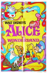 Alice In Wonderland movie poster [Disney 1981 re-issue] original 27x41