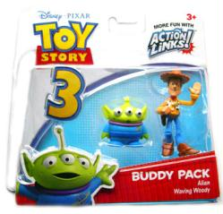 Toy Story 3: Alien & Waving Woody figure Buddy Pack (Mattel/2009)