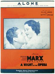 Alone vintage sheet music [Allan Jones, Kitty Carlisle] 1935