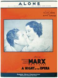 Alone vintage sheet music [Allan Jones, Kitty Carlisle] 1935