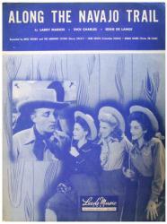 Along the Navajo Trail sheet music [Bing Crosby, The Andrews Sisters]