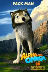 Alpha and Omega in 3D movie poster (2010) Pack Man advance