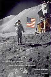 American Moon Landing poster (24x36) Neil Armstrong salute