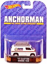 Hot Wheels Retro Entertainment: Anchorman '77 Custom Dodge Van diecast