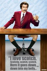 Anchorman movie poster (I Love Scotch) [Will Ferrell] 24'' X 36''