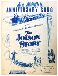 Anniversary Song sheet music [The Jolson Story] 1946 (GD)