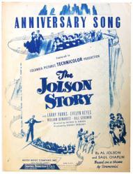 Anniversary Song sheet music [The Jolson Story] 1946 (GD)