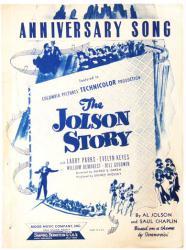 Anniversary Song sheet music [The Jolson Story] 1946