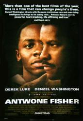 Antwone Fisher movie poster [Derek Luke & Denzel Washington]