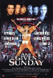Any Given Sunday movie poster [Al Pacino, Cameron Diaz & Dennis Quaid]
