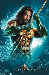 Aquaman movie poster: Trident [Jason Momoa] 22x34
