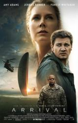 Arrival movie poster [Amy Adams, Jeremy Renner, Forest Whitaker] 27x40