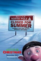 Arthur Christmas movie poster (2011) original 27x40 advance