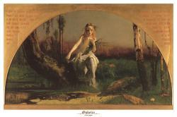 Arthur Hughes poster: Ophelia (36'' X 24'') New