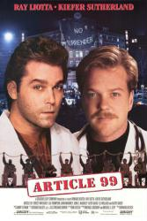 Article 99 movie poster [Ray Liotta, Kiefer Sutherland] 25x36