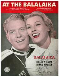 At the Balalaika vintage sheet music [Nelson Eddy, Ilona Massey] 1939