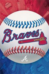Atlanta Braves logo poster [MLB] 22 1/2'' X 34''