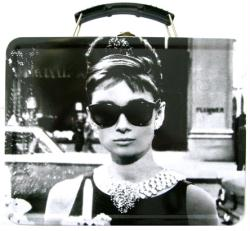 Audrey Hepburn: Breakfast At Tiffany's collectible Lunch Box Tin Tote
