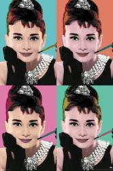Audrey Hepburn poster: Breakfast At Tiffany's Pop Art (24x36)