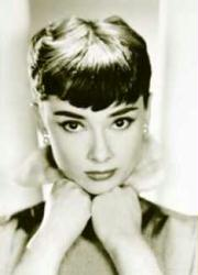 Audrey Hepburn poster: Resting Chin on Hands (24 X 36) B&W Close-Up
