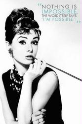 Audrey Hepburn poster: Nothing Is Impossible (24x36)