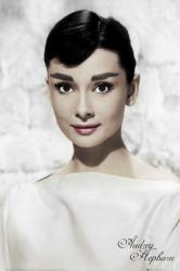 Audrey Hepburn poster: White (24'' X 36'') New