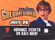 Austin Powers In Goldmember [w/ Mike Myers] (Promo Button/Pin) NM