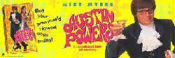 Austin Powers movie poster banner [Mike Myers, Elizabeth Hurley] 64x22