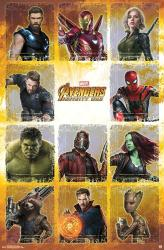 Avengers: Infinity War movie poster (22x34) Grid
