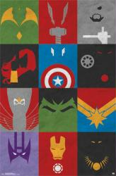 Avengers poster: Minimalist art (22x34) Marvel Comics