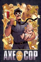 Axe Cop poster (24 X 36) comic book hero
