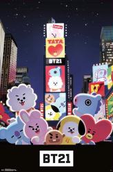 BT21 poster: Times Square (22x34) BTS