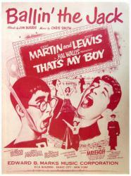 Ballin' the Jack sheet music [Dean Martin, Jerry Lewis] 1951