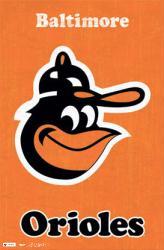 Baltimore Orioles poster: Retro logo (22 1/2'' X 34'')