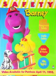 "Barney & Friends poster: Safety (22 1/4"" X 29 1/2"" video poster)"