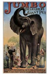 Barnum, Bailey & Hutchinson circus poster: Jumbo (18 X 24) Elephant
