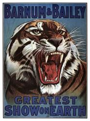 Barnum & Bailey circus poster: Greatest Show On Earth (18 X 24) Tiger