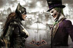 Batman: Arkham Knight video game poster (34x22) Batgirl Joker FaceOff