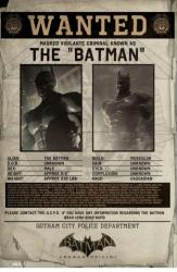 Batman: Arkham Origins video game poster (24 X 36) Wanted: The Batman