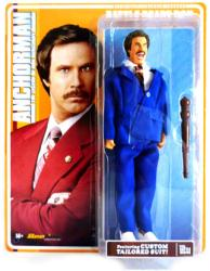 "Anchorman: 8"" Battle Ready Ron Burgundy retro-style action figure"