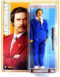 "Anchorman: 8"" Battle Ready Ron Burgundy retro-style action figure"