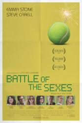 Battle of the Sexes movie poster [Emma Stone, Steve Carell] 27x40