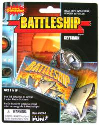 Battleship keychain: Mini Game Box, Board & Pieces (Basic Fun/2005)