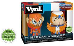 Masters of the Universe: Beast Man & Sorceress Vynl figures (Funko)