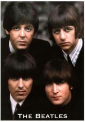 Beatles poster: 4 Faces in Color (23 1/2'' X 33 1/2'')