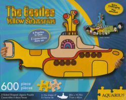 Beatles Yellow Submarine 2-sided shaped jigsaw puzzle (Aquarius) 600pc