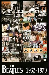 Beatles poster: 1962-1970 Collage (24'' X 36'') New